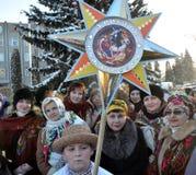 City Holiday Christmas carols_7 Stock Image