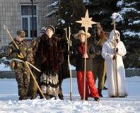 City Holiday Christmas carols_8 Royalty Free Stock Photo