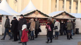 City holiday market stock video