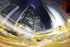 City. Hong Kong Night. Royalty Free Stock Photography