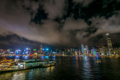 Beautiful West Kowloon night Royalty Free Stock Photos
