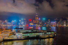 Beautiful West Kowloon night Stock Image