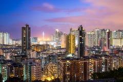 Hong Kong City at night Royalty Free Stock Photos