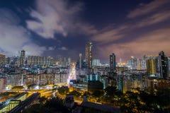 Hong Kong City at night Royalty Free Stock Images