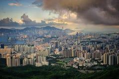 City in Hongkong Royalty Free Stock Photo