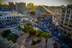 City of Hope. This is the city of Misurata in Libya. It was a symbol of the Libyan revolution that overthrew the tyrant, the richest man in the world, Muammar al Stock Images