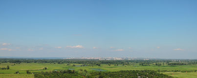 City on the horizon on a clear day Royalty Free Stock Images