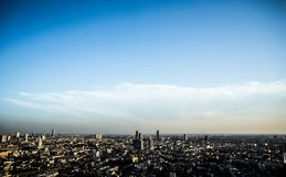 City Horizon Under Clear Skies Royalty Free Stock Image