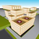 City Hospital. An image of a 3d city hospital Stock Photos