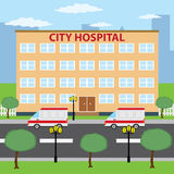 City hospital. royalty free stock photography
