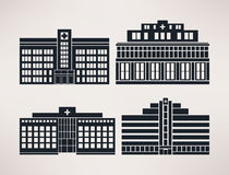 City hospital, icon Set, flat style, vector. Stock Photography