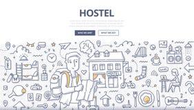 City Hostel Doodle Concept Stock Images