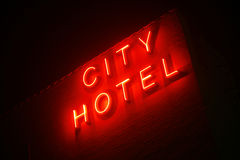 City Hotel Royalty Free Stock Photography