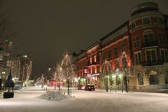 City Hotel in Luleå. Christmas spirit at the City Hotel in Lule Royalty Free Stock Photos