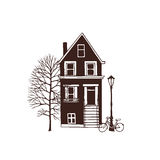 City house illustration royalty free illustration