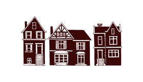 City houses illustration Stock Photography