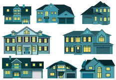 City houses (night) Stock Images