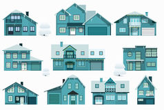 City houses (night) Royalty Free Stock Photo