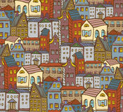 City houses pattern Stock Photo