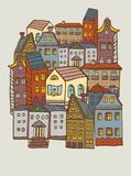 City houses pattern Stock Images