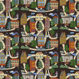 City houses pattern Royalty Free Stock Image