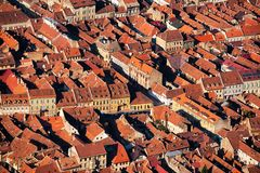 City houses pattern. City houses seen from distance, creating a pattern Stock Photos