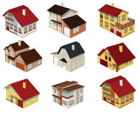 City houses in perspective Stock Image