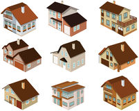 City houses in perspective Royalty Free Stock Image