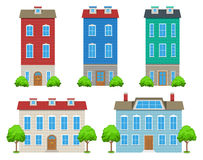 City Houses Set Royalty Free Stock Photo