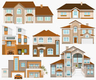 City houses Stock Photography