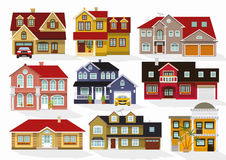 City houses. Vector illustration of houses collection vector illustration