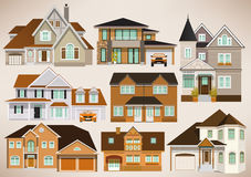 City houses Stock Photos
