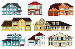 City houses Royalty Free Stock Images