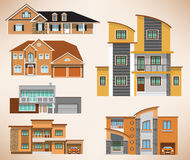 City houses Royalty Free Stock Image