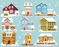 City houses in Winter Stock Photo