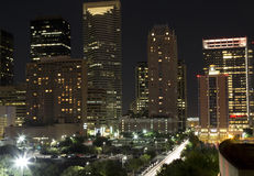 City Houston night Stock Image