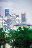 City of houston texas downtown skyline with tilt lens Stock Images