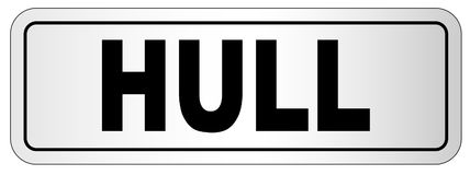 Hull City Nameplate Royalty Free Stock Images