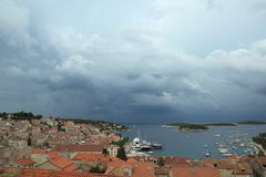 City Hvar in Croatia. Royalty Free Stock Images