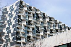 City Hyde Park, Chicago, Studio Gang Architects. City Hyde Park is an apartment complex in Chicago`s Hyde Park neighborhood designed by Studio Gang, the Royalty Free Stock Photo
