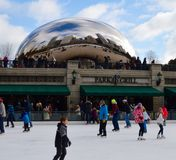 City Ice Skaters Stock Images