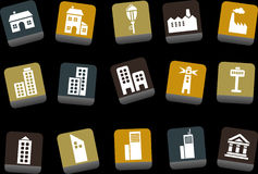 City Icon Set Royalty Free Stock Photography