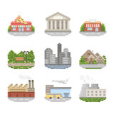 City Icon Set Stock Images
