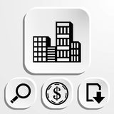 City icon stock vector illustration flat design Stock Photo
