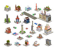 City icons, buildings, park detailes Part of colle Royalty Free Stock Photos