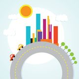 City Icons Stock Image