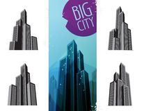City Icons Royalty Free Stock Images
