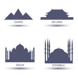 City Icons Royalty Free Stock Photos