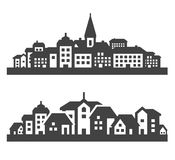 City icons set. signs and symbols Royalty Free Stock Photography
