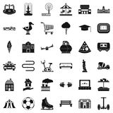 City icons set, simple style Royalty Free Stock Image